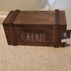 NWT Rae Dunn wooden crate